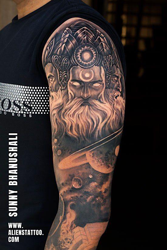 fd2c35f25 Lord Brahma Tattoo by Sunny Bhanushali at Aliens Tattoo, India ...