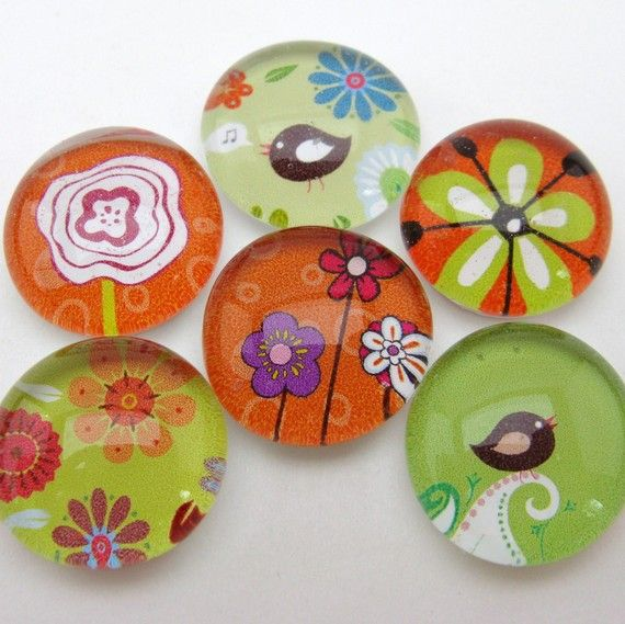 oh I just love these glass magnets !!!!!!!! for glass, magnets, adhesive: http://www.ecrafty.com/c-81-craft-supplies.aspx