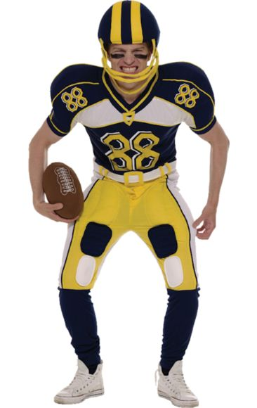 Cheekyfun Fancy Dress American Footballer by Orion Includes Padded Jumpsuit Helmet American Football Sizes Large or X