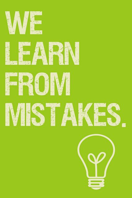 We learn from our mistakes posters design typography
