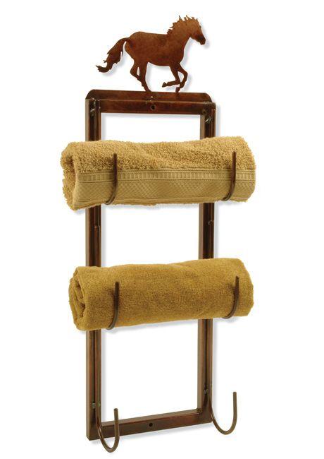 Horse Towel Holder.....Ideas for a western bathroom.  On Lonestar Western Decor
