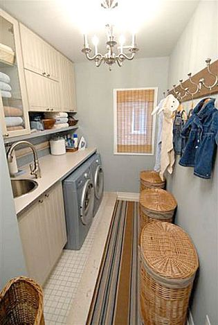 Sarah Richardson Design    Simple Laundry Room with Style - wishful thinking perhaps?