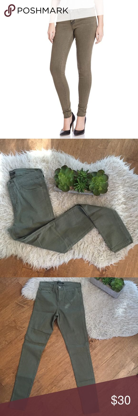 NWT Flying Monkey Olive Skinny Jeans NEW skinny jeans in olive. Never worn and in perfect condition. Lighting is bad in the photo with the pants Layed out- there is nothing wrong with the pants. Let me know if you need sizing help! These would be perfect for St. Patrick's Day Nordstrom Jeans Skinny