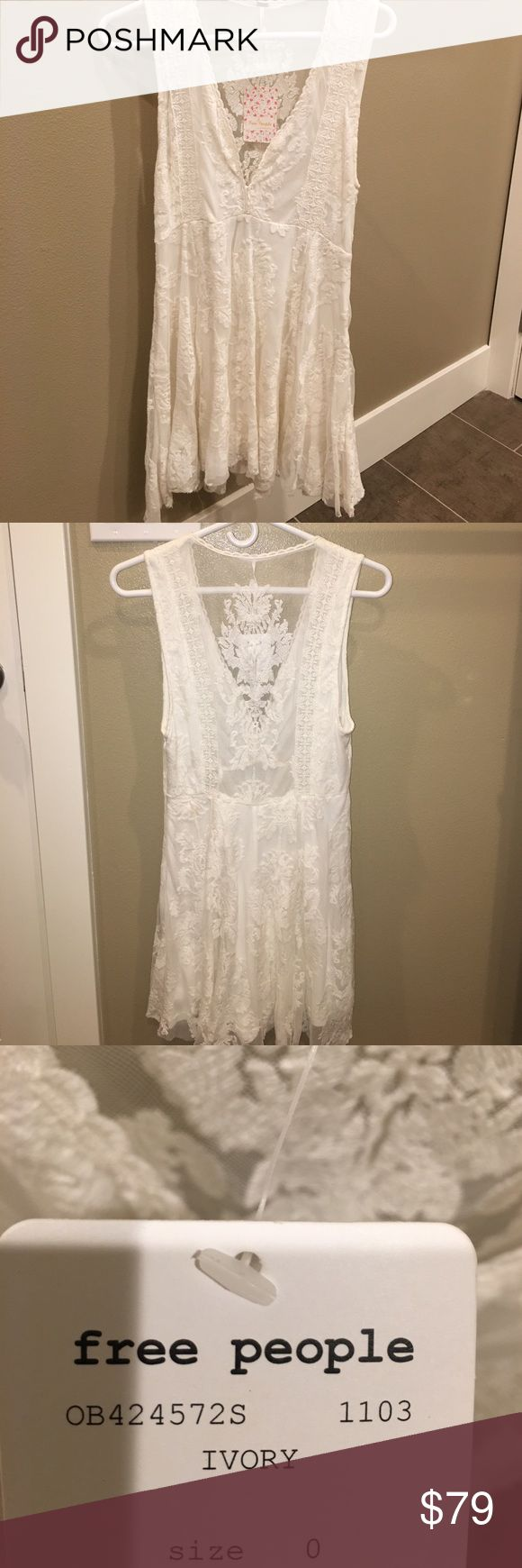Free People White Dress Never worn and new with tags Free People dress! Absolutely love. One of my favorite pieces but I own in another color. Free People Dresses Mini