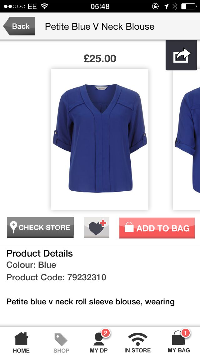 Dorothy Perkins colbat blouse