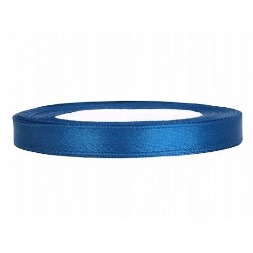 Blauw Satijn Lint 6 mm