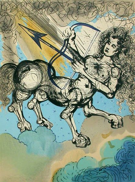 Salvador Dalí 1904-1989 | Surrealist painter | Twelve Signs of the Zodiac, 1967 - Sagittarius