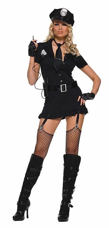 Cop Costume YEP  :) My one day to dress Hoochi Im taking it lol
