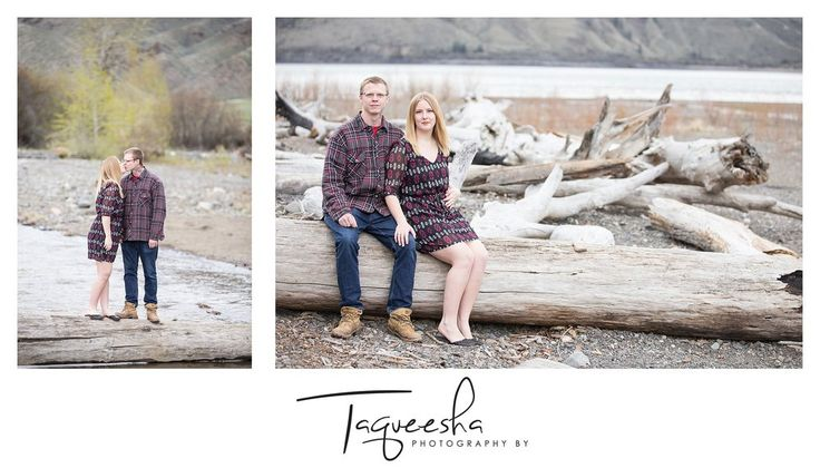Kamloops wedding photographer, Cooney bay engagement session. Beach engagement session, spring engagement session.  www.taqueesha.com