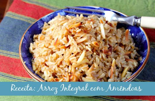 """Umas das coisas que """"mata"""" a dieta no natal (e na ceia de ano novo) são os acompanhamentos. De vez em quando, até optamos pelas proteínas mais magras, mas acabamos enchendo o prato de arroz branco, batata e outras comidas engordativas. Esse arroz é ótimo e fácil de fazer, servindo maravilhosamente bem como acompanhamento -…"""