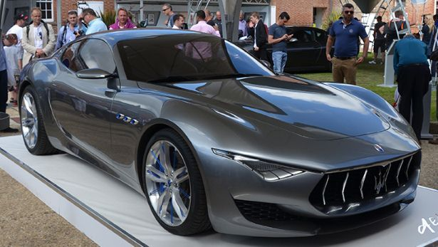 The Maserati Alfieri concept makes it to the UK for the first time.