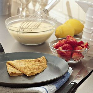Lemon Cream filled Crepes with Strawberries...can't wait to try with my new crepe pan!