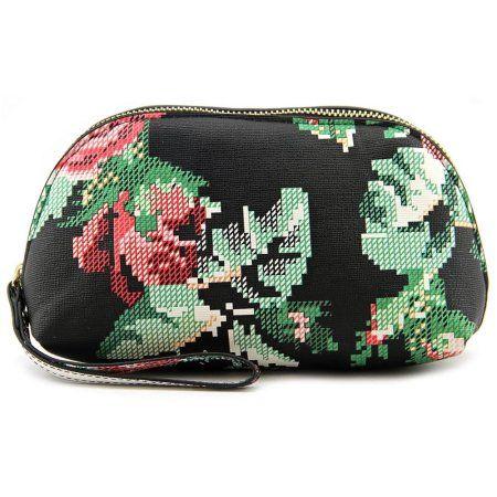 Buy Poverty Flats Floral Zip Wristlet Women   Synthetic  Wristlet at Walmart.com