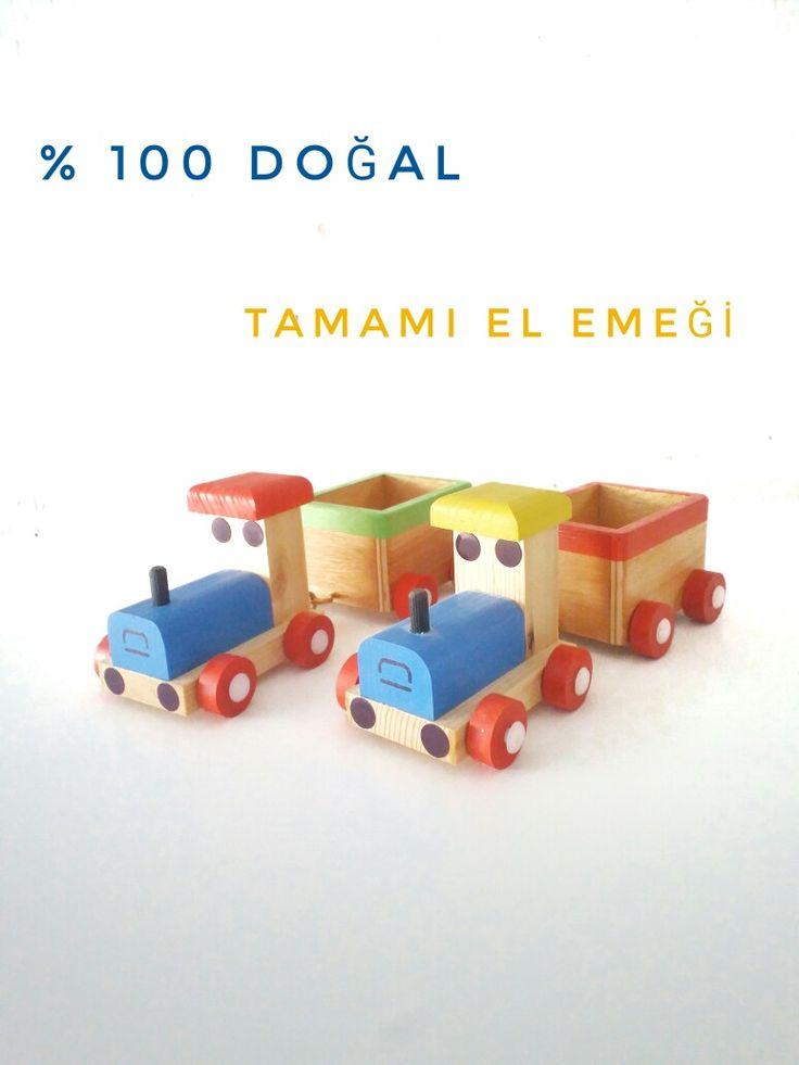 Ahşap Oyuncak Tren