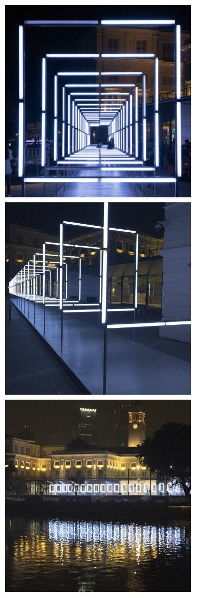 Компания TETRO презентовала световую инсталляцию в Сингапуре. Световая…