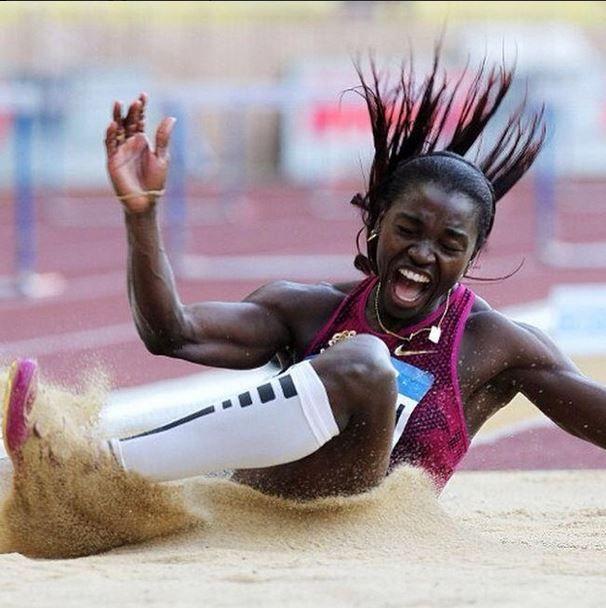 Nuestra negra hermosa sigue brillando  Gracias #CatherinIbargüen #orgullocolombiano #atleta #ligadiamante #sinlimites #colombia