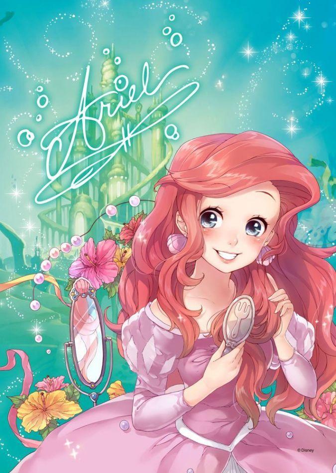 Дисней Принцессы в аниме стиле