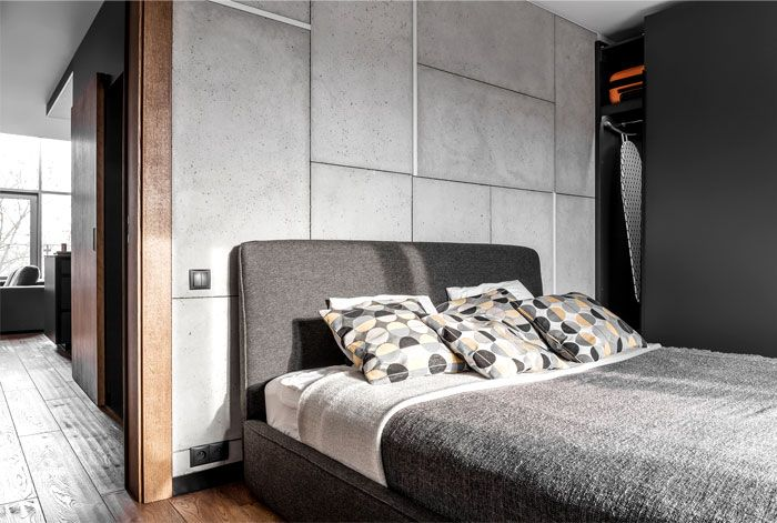 Methaforma Group Created Mezzanine Apartment in Gray Colors - InteriorZine