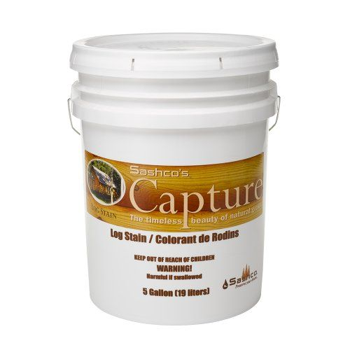 Sashco Capture Capture Log Stain, 5 Gallon Pail, Wheat (Pack of 1) - http://www.productsforautomotive.com/sashco-capture-capture-log-stain-5-gallon-pail-wheat-pack-of-1/