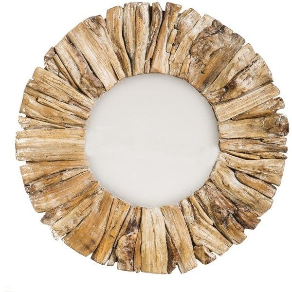 Driftwood Round Oversized Wall Mirror ❤ liked on Polyvore featuring home, home decor, mirrors, oversized round mirror, round mirror, round driftwood mirror, driftwood home decor and circular wall mirror