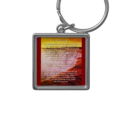 St.Anthony's Prayer/n Keychain - New Year's Eve happy new year designs party celebration Saint Sylvester's Day
