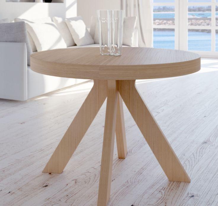 M s de 25 ideas incre bles sobre mesa redonda extensible for Mesa de comedor redonda extensible blanca