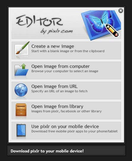Photo editor online - free image editing direct in your browser - Pixlr.com. Possibly the perfect solution for getting students to do simple web edits before uploading their images to webcampus. Yes!