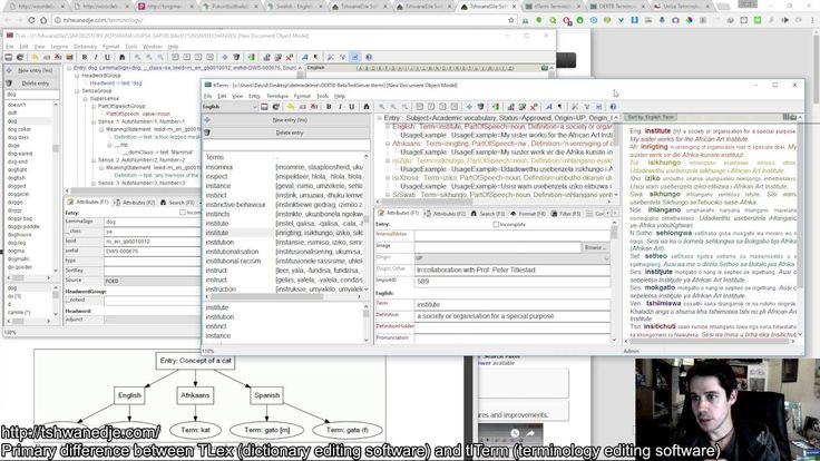 Difference Between tlTerm Terminology Software and TLex Lexicography Software Editing Packages