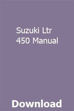 Suzuki Ltr 450 Manual Suzuki Ltr 450 Manual. GitHub Gist: instantly share code, notes, and snippets.