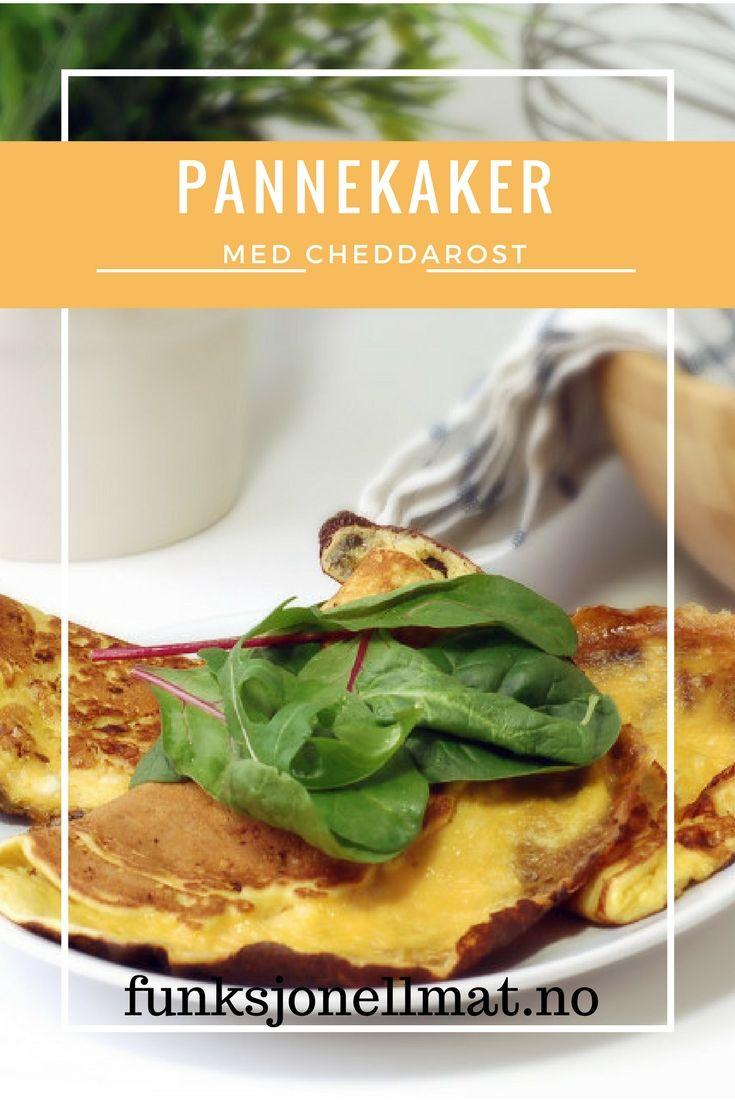 Pannekaker med Cheddarost - Funksjonell Mat | Sunne pannekaker | Pannekaker oppskrift | Oppskrift uten sukker | Sunn middag