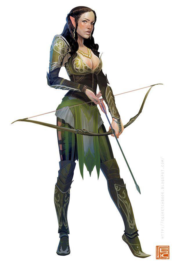 elven archer, Ilya Komarov on ArtStation at https://www.artstation.com/artwork/elven-archer-446f4144-a109-49ab-9a64-ea65ed368fd9