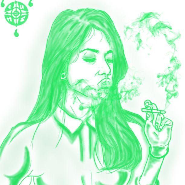 Green Woman Smoke