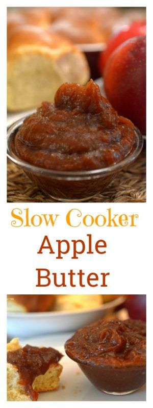 This slow cooker apple butter is an easy and delic…