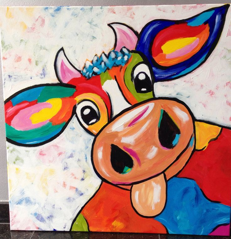 Cow design for school collage project