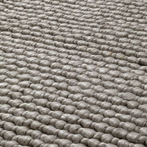 The Wool Collection Rug Pale Grey Cosmic