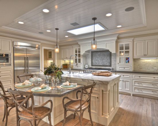 find this pin and more on kitchen island - Kitchen Island With Table Attached