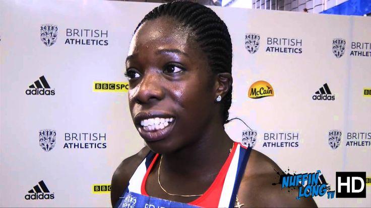 Anyika Onuora post race interview | British Athletics Glasgow GP 2013 - ...