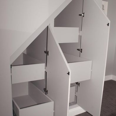 Under the stairs storage idea, doing something similar in the basement.