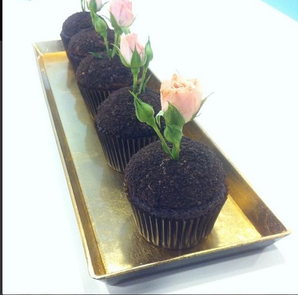 Perfect Valentine's gift: #oreo #cupcake!!! with a fresh #rose!
