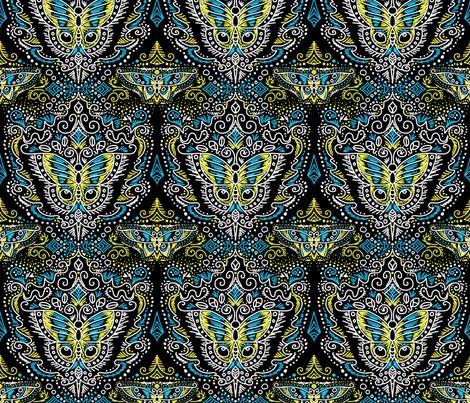 chalkboard filigree butterflies fabric by beesocks on Spoonflower - custom fabric