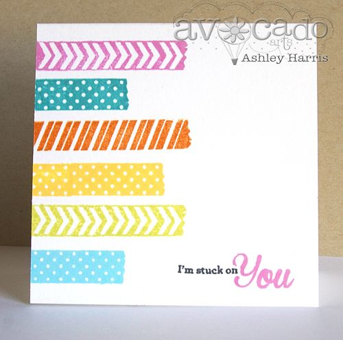 Card created by @Ashley Walters Harris using the new Stuck on You stamp set!