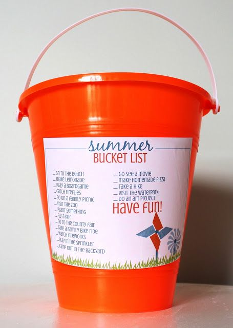 Printable Summer Bucket List ~ A Fun Kid Idea!
