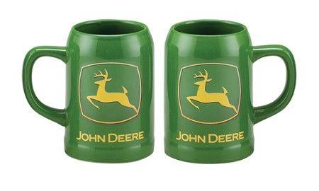 John Deere Stoneware Green Mug