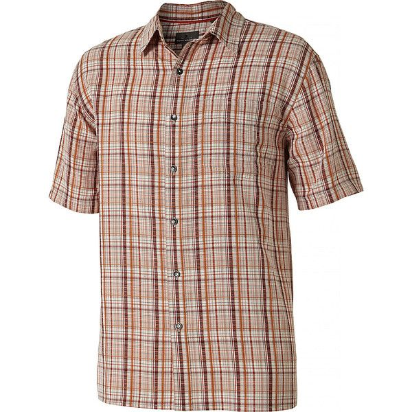Royal Robbins Mens Pilat Plaid Short Sleeve Shirt - S - Crimson -... (875 MXN) ❤ liked on Polyvore featuring men's fashion, men's clothing, men's shirts, men's casual shirts, red, mens tartan shirt, mens plaid shirts, mens red shirt and mens red plaid shirt