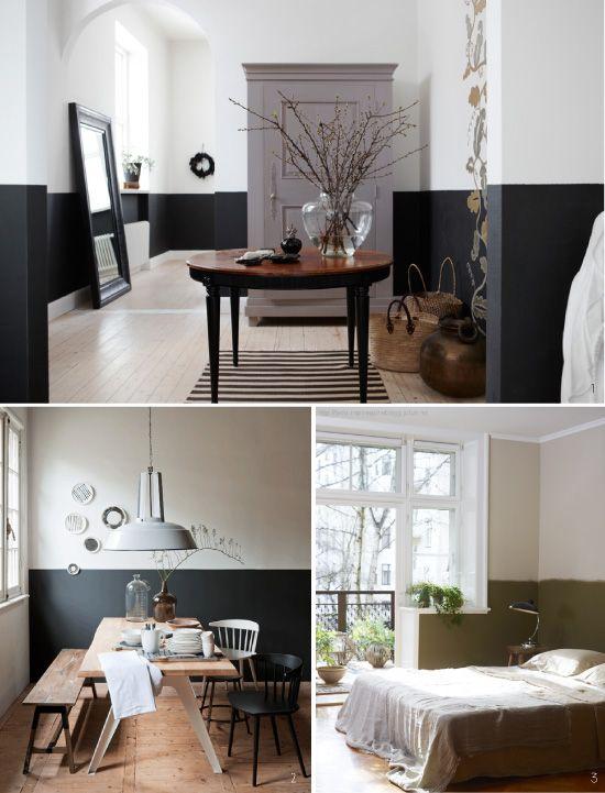 Peindre le mur en 2 couleurs habillez les murs - Peindre un couloir en 2 couleurs ...