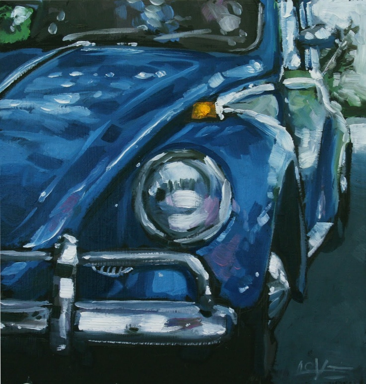 #VW #Bug #Beetle #VW_Beetle #Volkswagon #Dlove #Painting #oil_Painting #punch buggy #punch_buggy