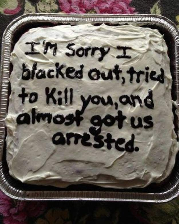 30 Apology Cakes: For Those Times a Card or Flowers Just Won't Cut It -
