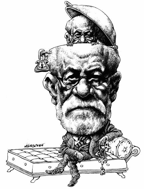 Sigmund Freud. © Nerilicon, CagleCartoons.com, Mexico City 2008