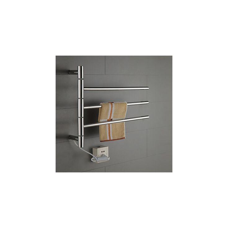 壁掛けタオルウォーマー タオルハンガー+簡易乾燥 ステンレス鋼 180°回転可能 30W