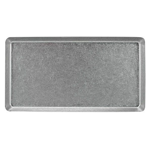 Front Of The House Dsp039ans21 Mod 12 1 2 X 8 1 4 Rectangular Antique Finish Stainless Steel Plate 4 Case In 2020 Stainless Steel Plate Steel Plate Traditional Dinnerware